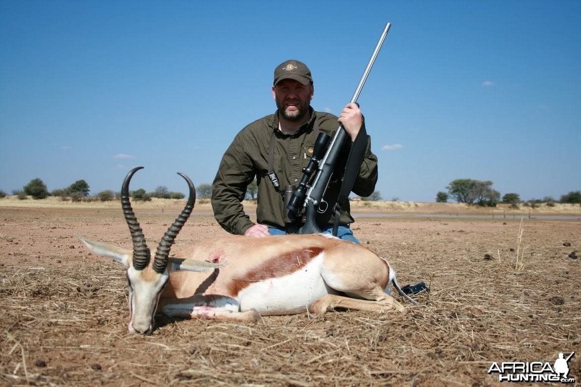 Springbok hunt in Namibia