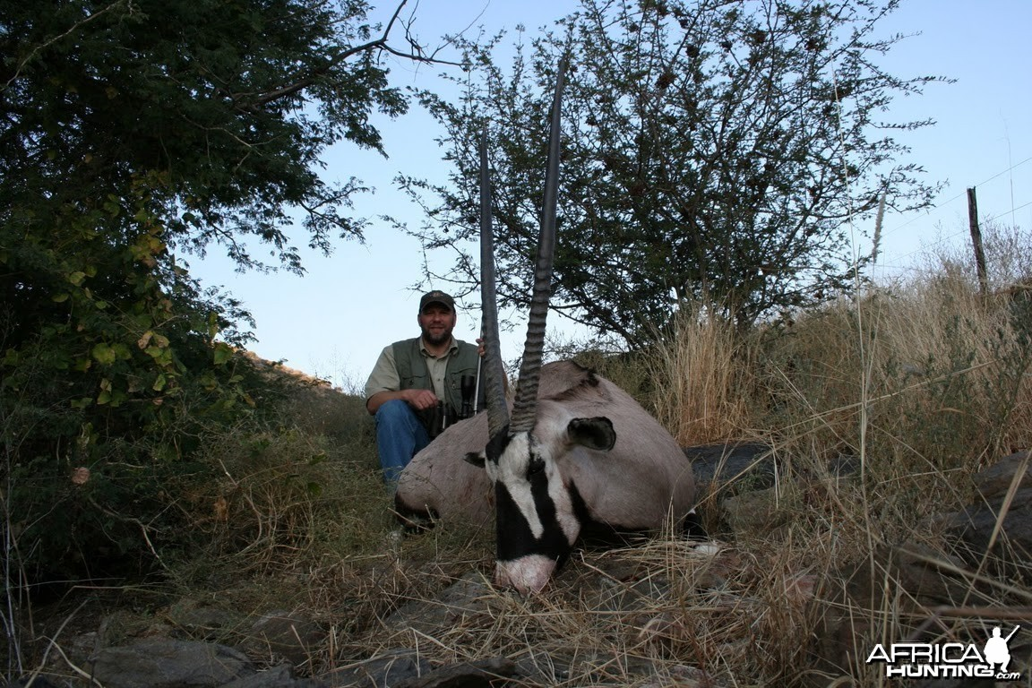 Gemsbok hunt in Namibia
