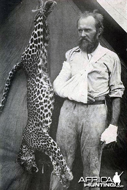 Carl Akeley and the Leopard he killed bare handed
