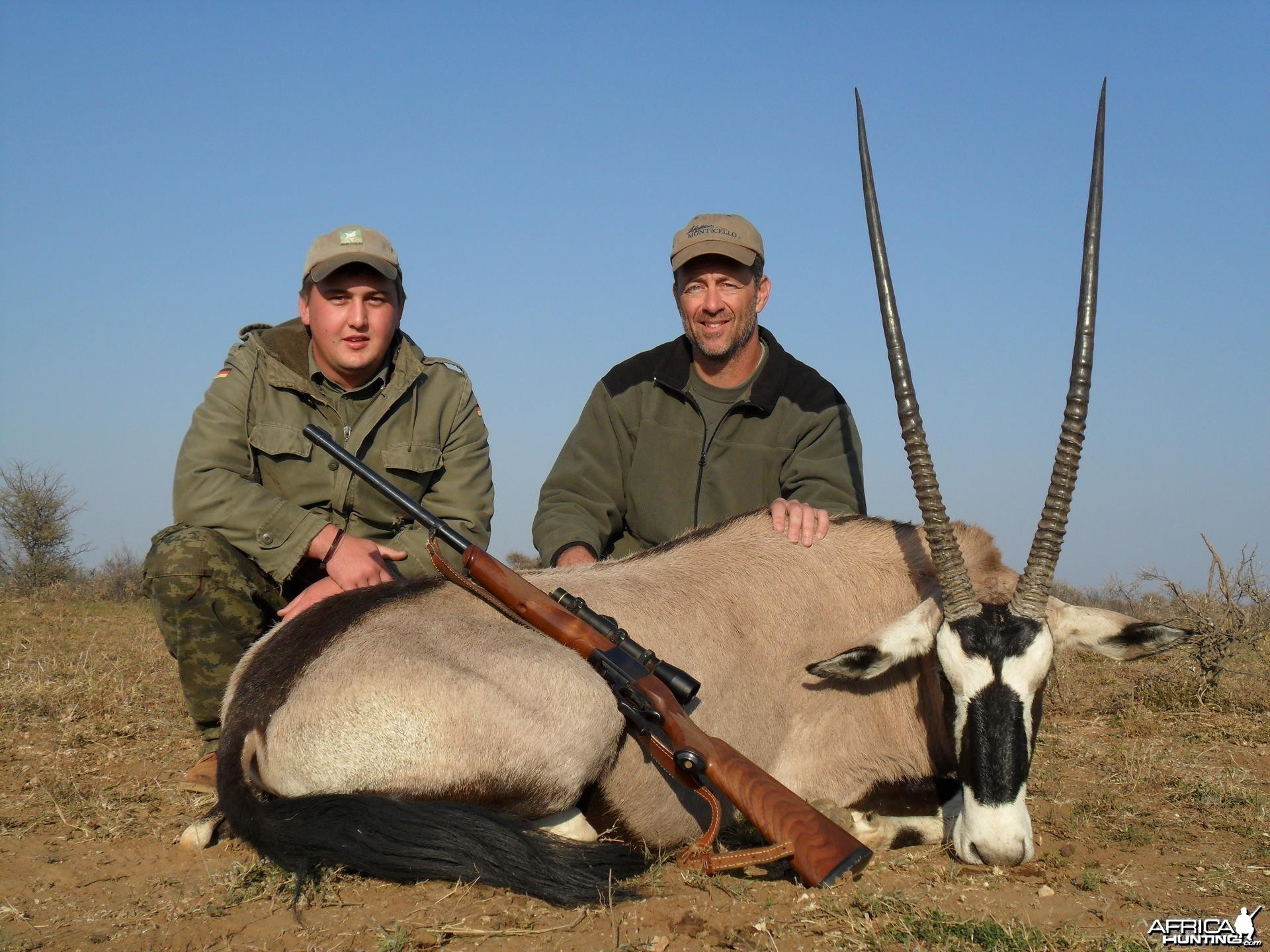 Gemsbok hunt in South Africa