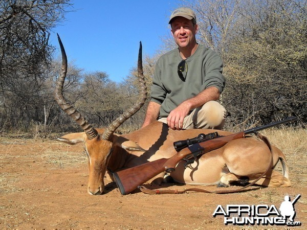 Impala hunt in South Africa