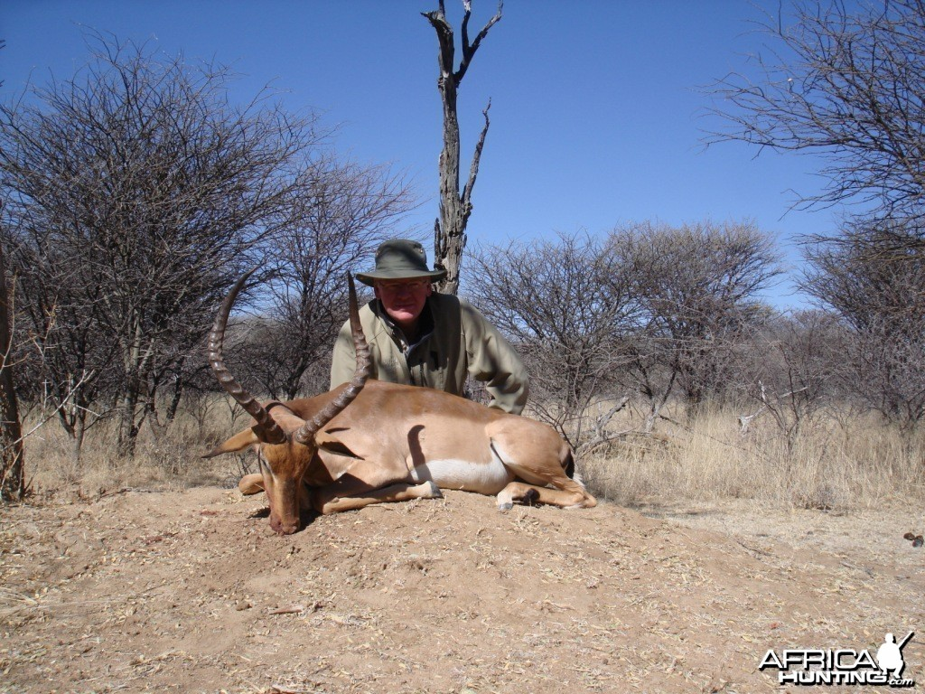 Imapla hunted in Namibia