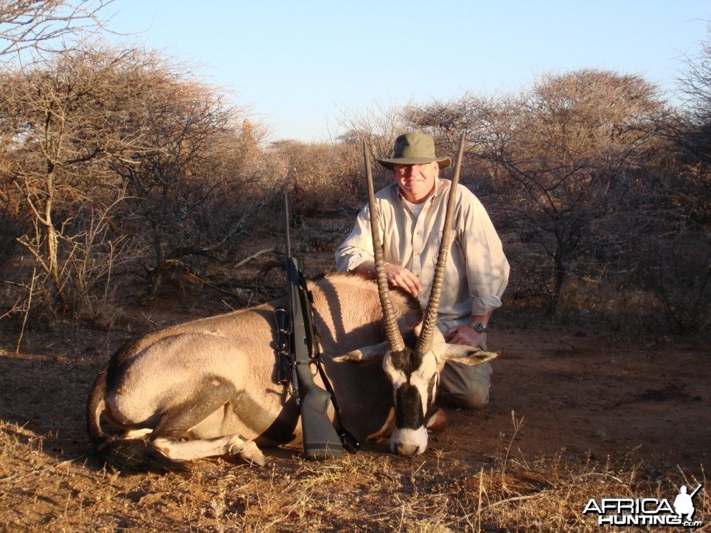 Oryx hunted in Namibia