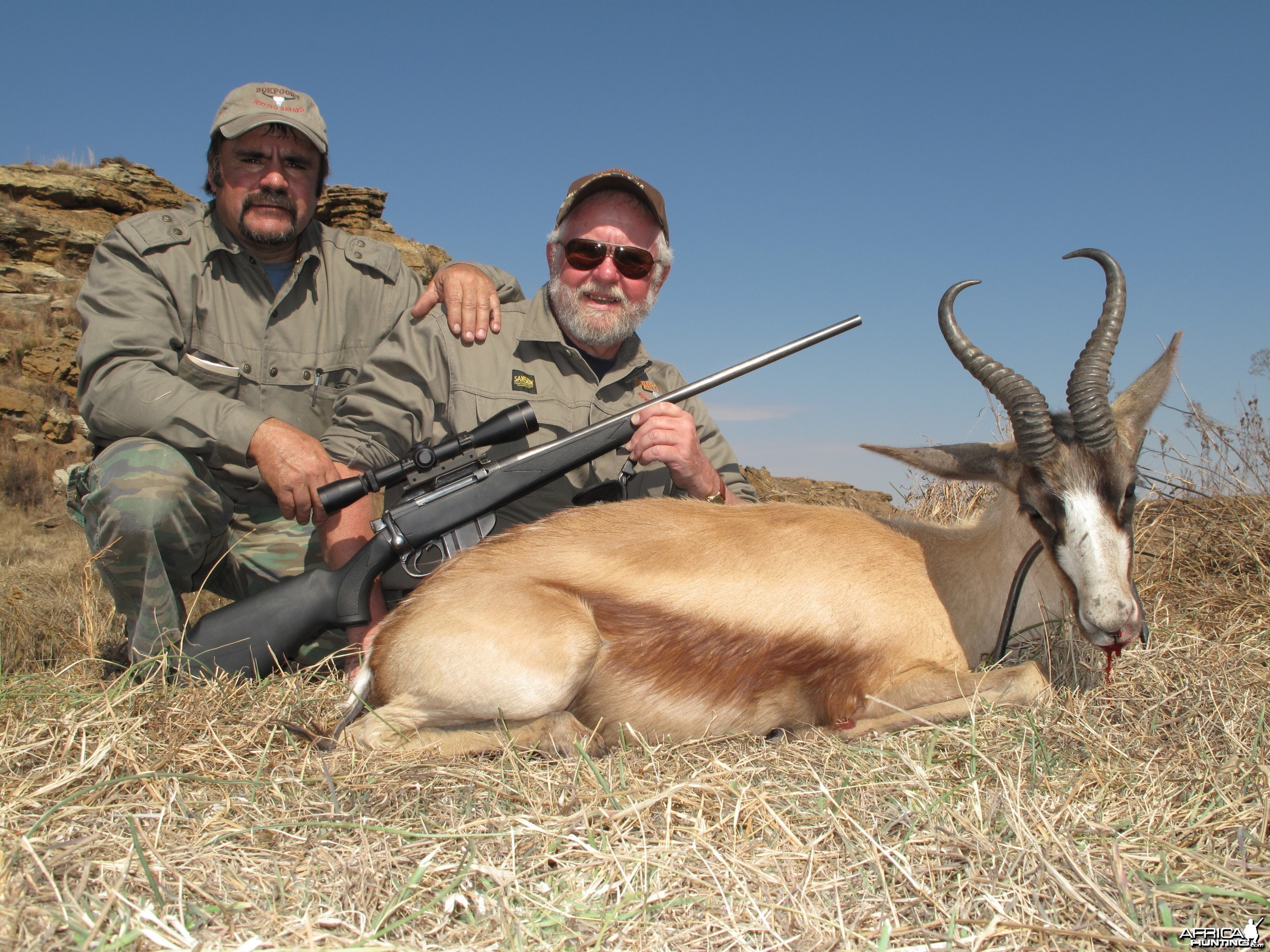 Copper Springbuck, Hunting with Clients