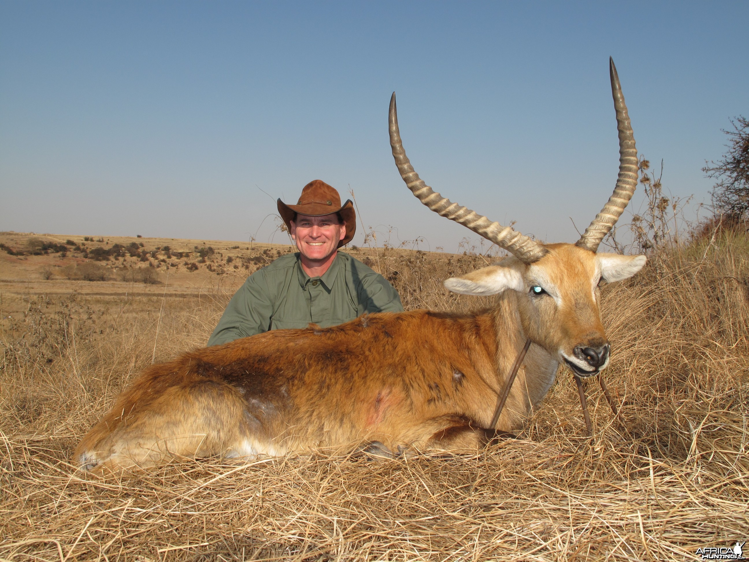"Kafue Lechwe 25"", Hunting with Clients"