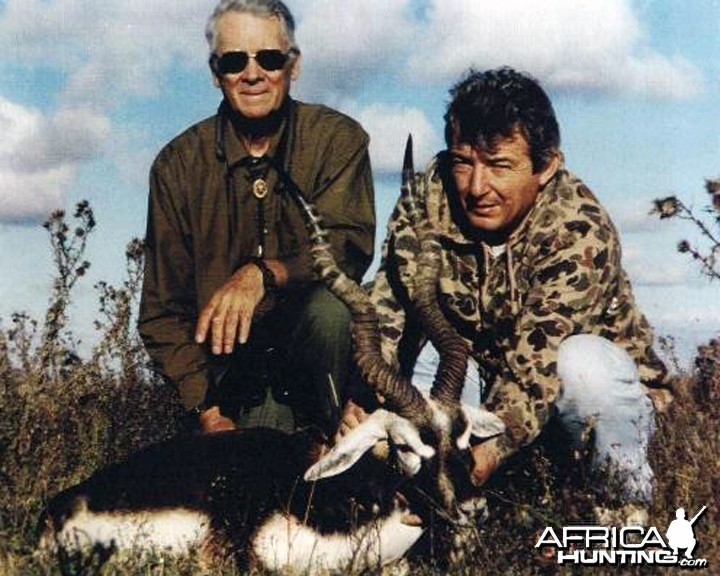 Hubert Thummler, Big Game Hunter, with Black Buck