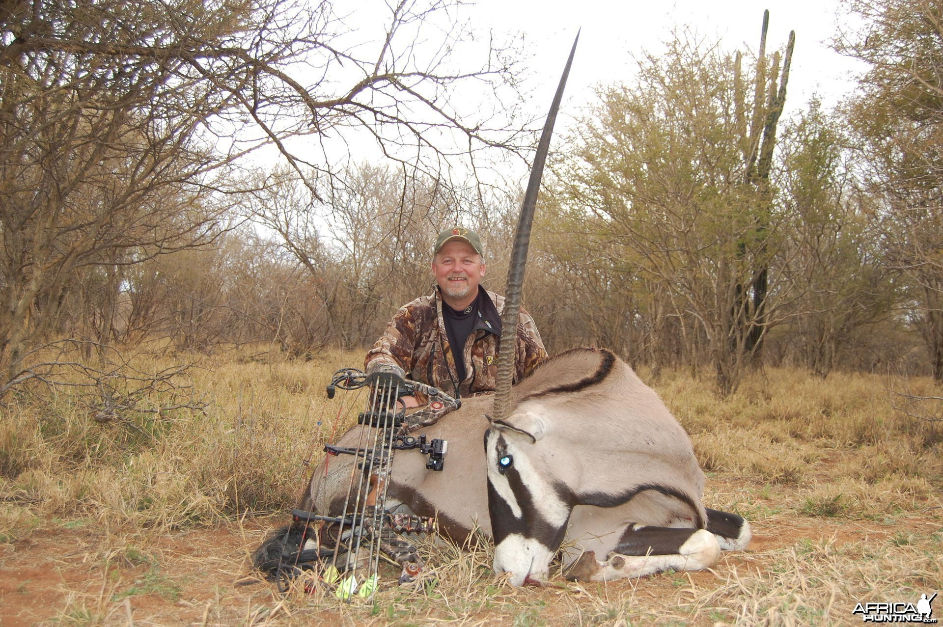 "42"" female Oryx hunted in South Africa"