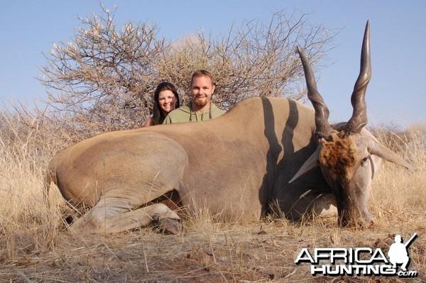 Cape Eland hunted in Namibia