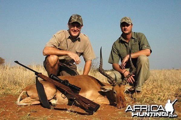 Impala hunted in South Africa