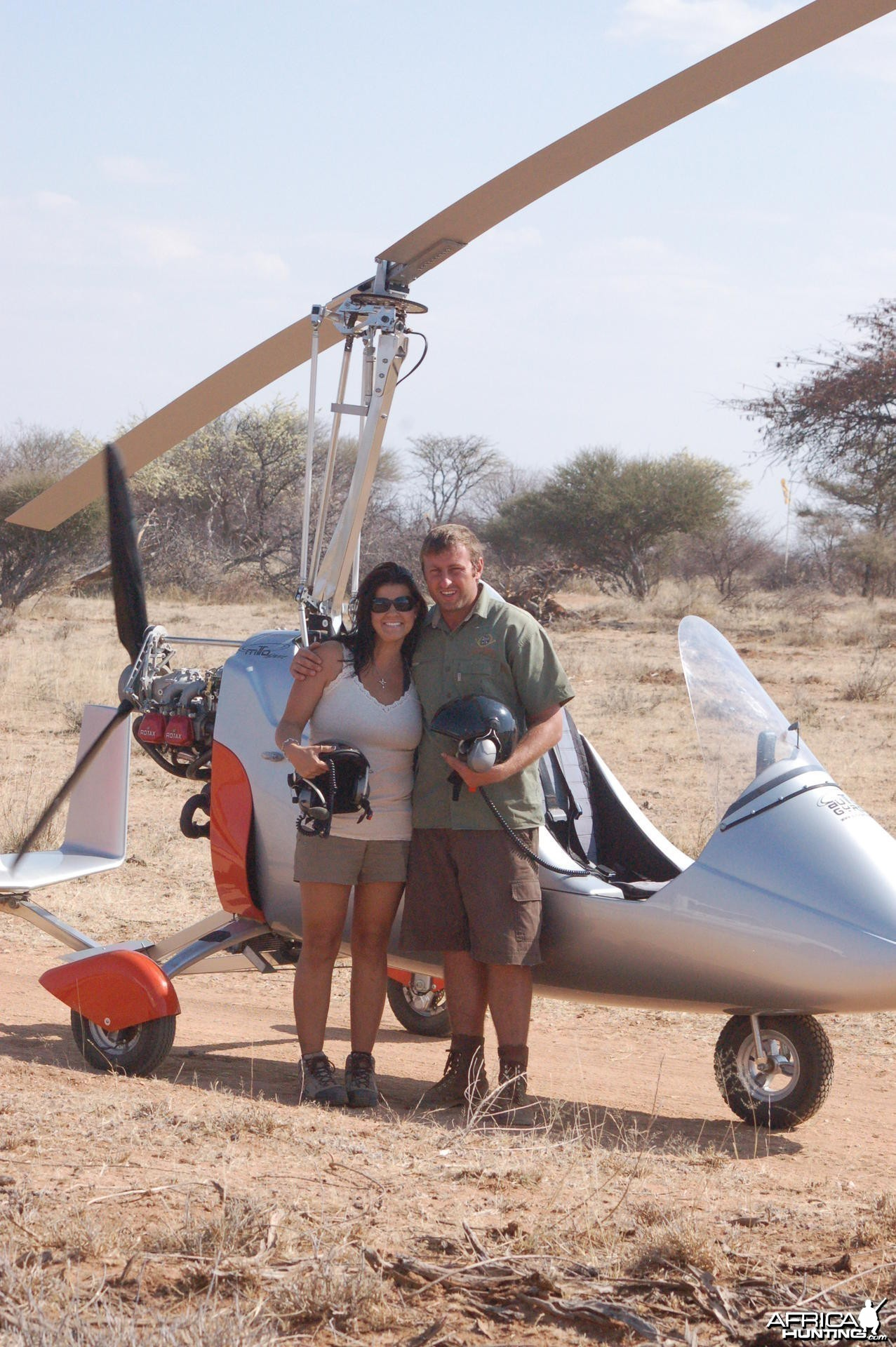 Gyro-copter flight in Namibia