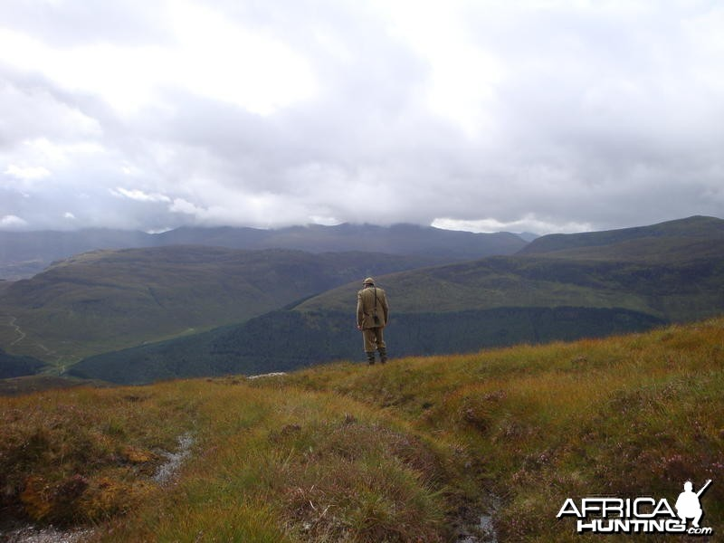 Scottish Gamekeeper in the Highlands
