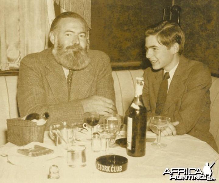 Hemingway with his son Patrick Hemingway