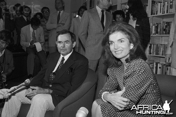 Portrait of Jacqueline Kennedy Onassis with Patrick Hemingway, 1945