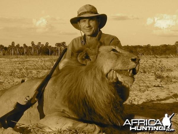 Hunting Lion in Tanzania