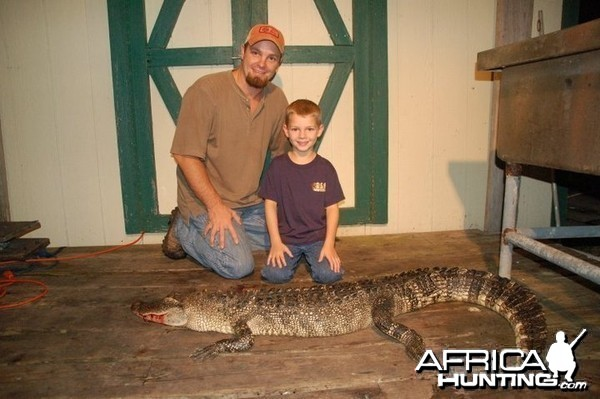 My son's first gator