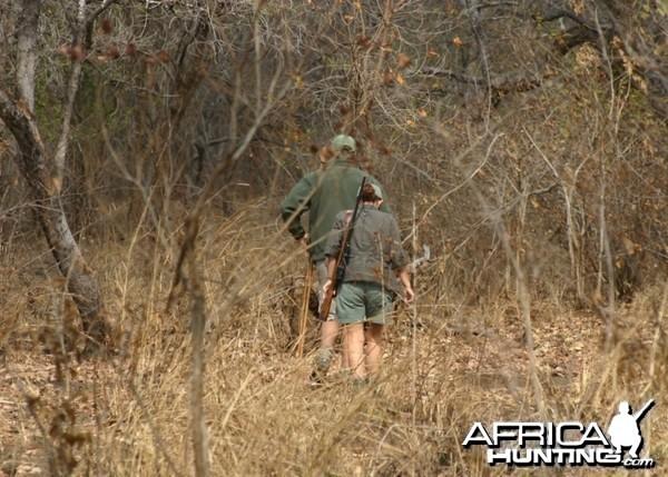 Katherine and Neil stalking an impala