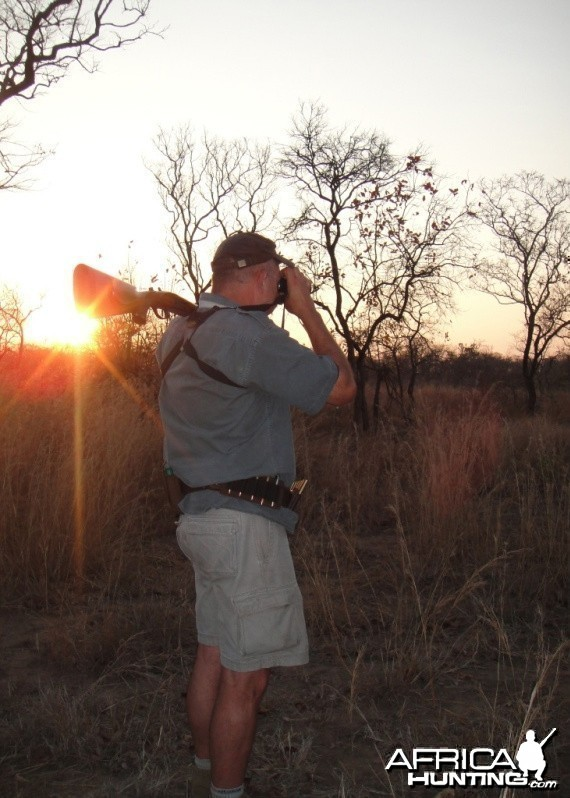 Hunting until sunset and walking back after dark