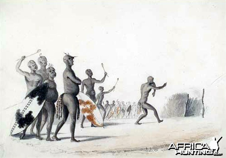 Mzilikazi by William Cornwallis Harris, 1836