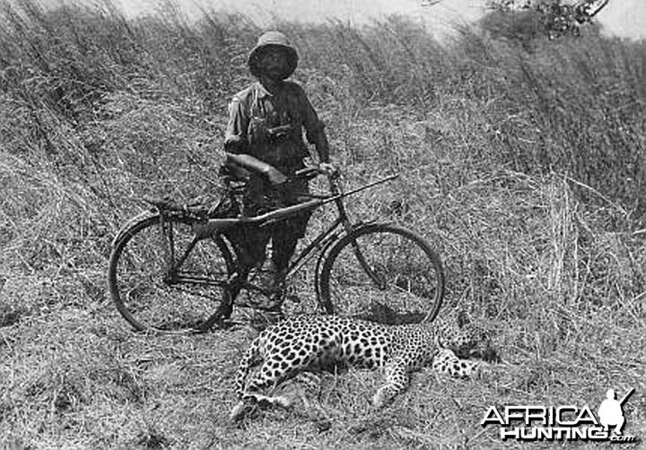 Kazimierz Nowak (1897-1937) with Leopard