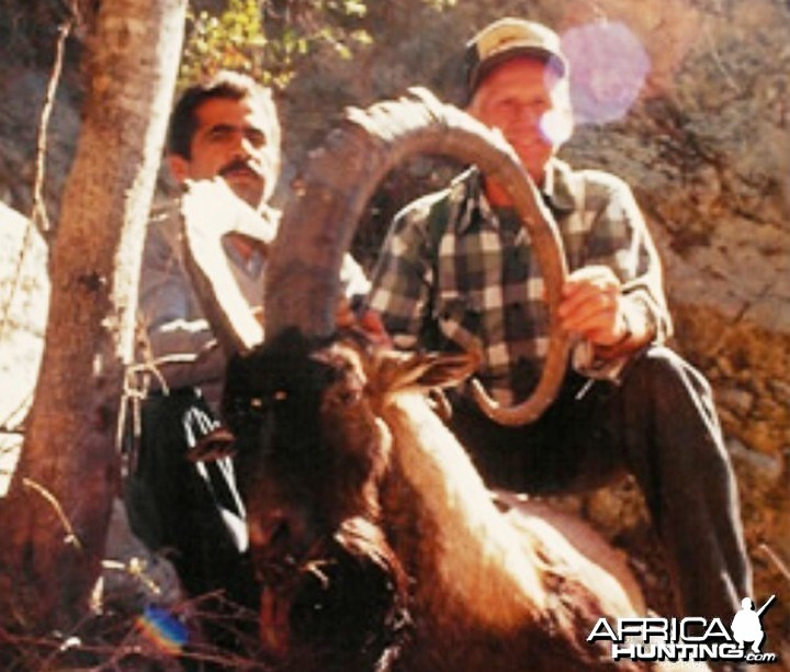 Dr. James E. Conklin (1926-2001) with Ibex, Big Game Hunter