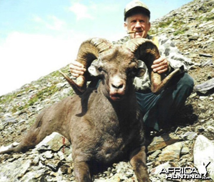 Dr. James E. Conklin (1926-2001) with Ram, Big Game Hunter