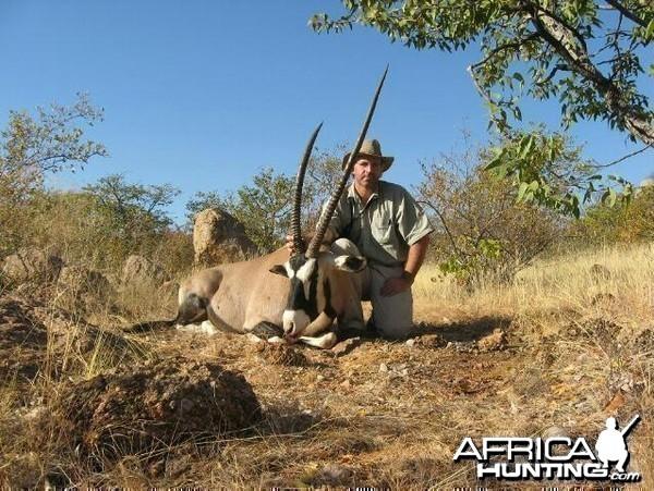 Hunting Gemsbok South Africa