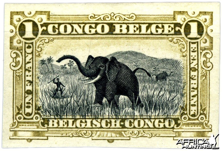 One Franc Congo Belge Bill from 1910