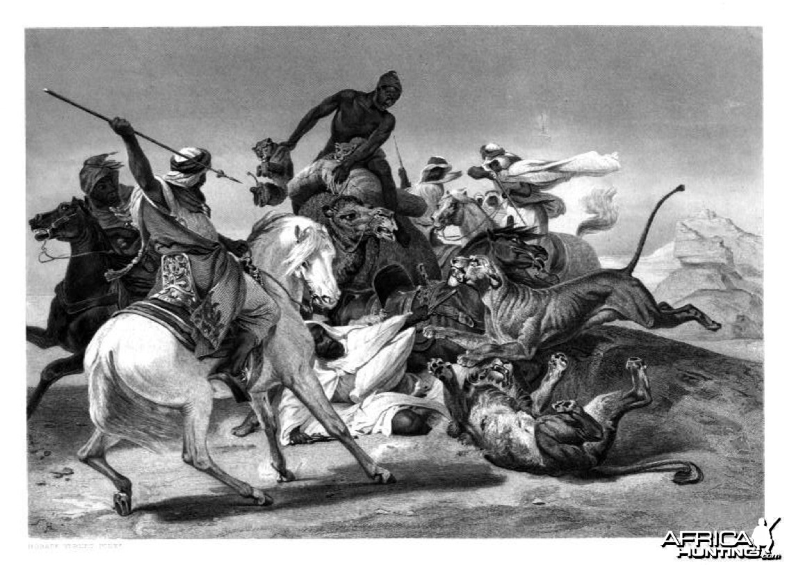 The Lion Hunt, Sahara 1880