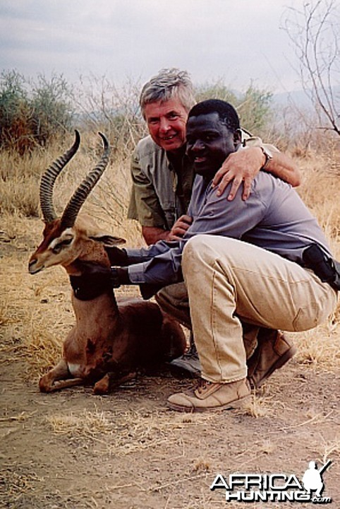 Bela Hidvegi with Gerenuk hunted in Tanzania