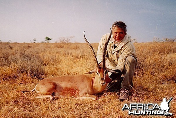 Bela Hidvegi with Grant Gazelle hunted in Tanzania