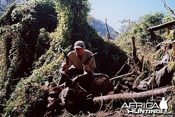 Bela Hidvegi with Mountain Nyala hunted in Ethiopia
