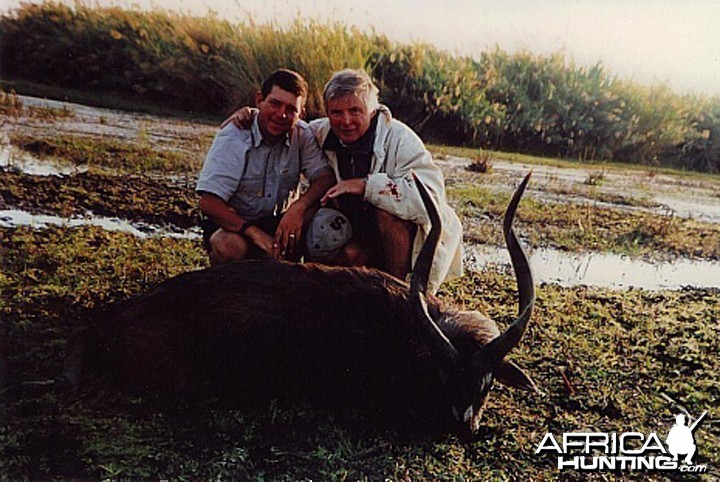 Bela Hidvegi with Sitatunga hunted in Zambia