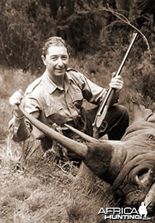 Carlo Caldesi with Black Rhino