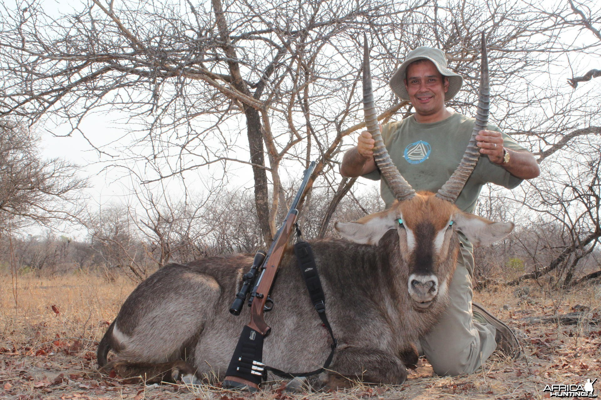 Waterbuck hunted in Zimbabwe