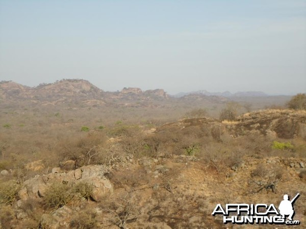 The view from the chalet at Touch Africa Safaris