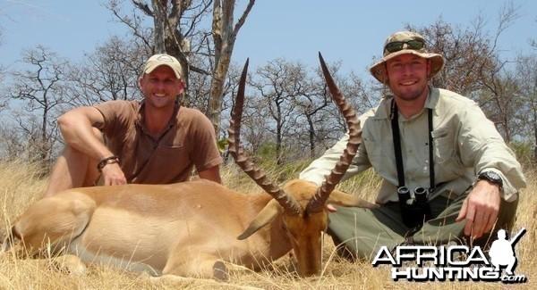 Good 22 inch Impala ram hunted in Zimbabwe