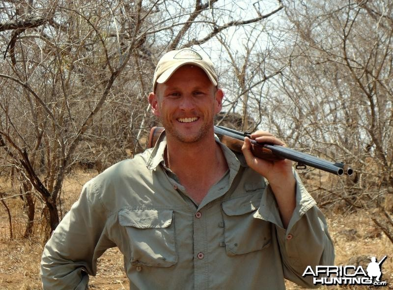 In Zimbabwe hunting Buffalo
