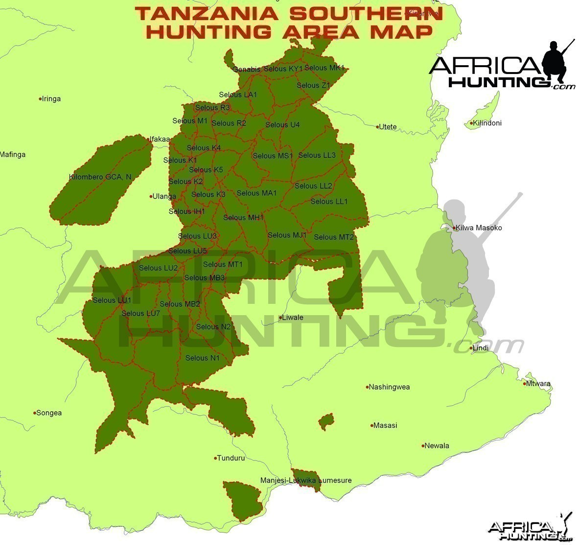 Hunting Areas of Southern Tanzania