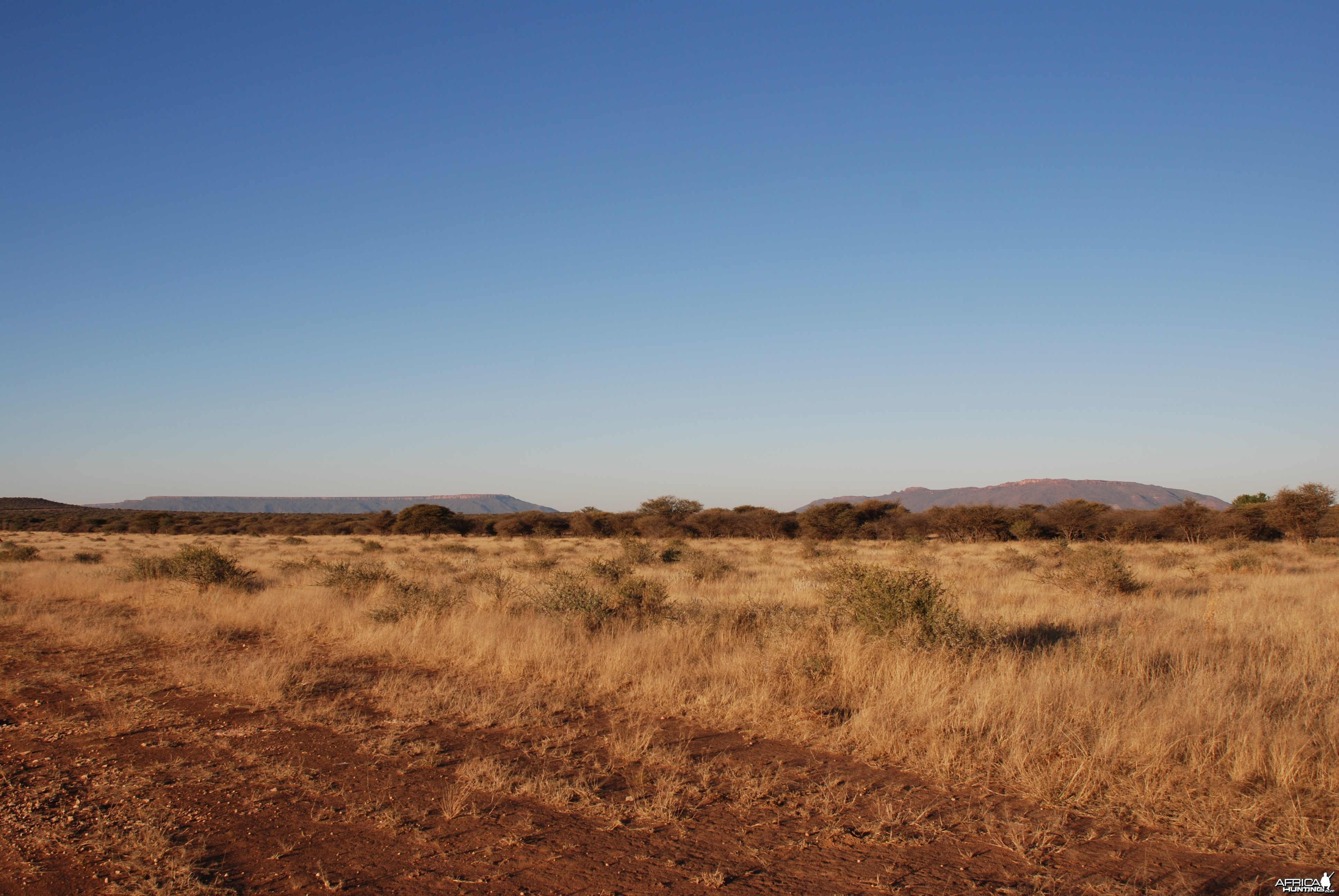 View of Waterberg Plateau from Ozondjahe
