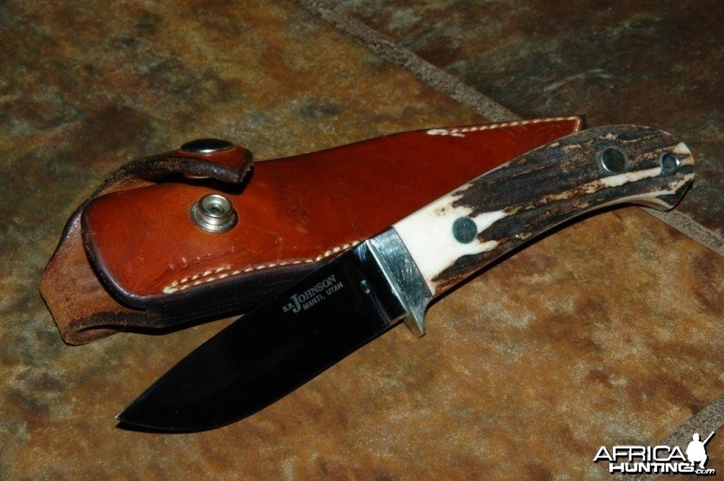 S. R. Johnson Drop Point Hunter Knife