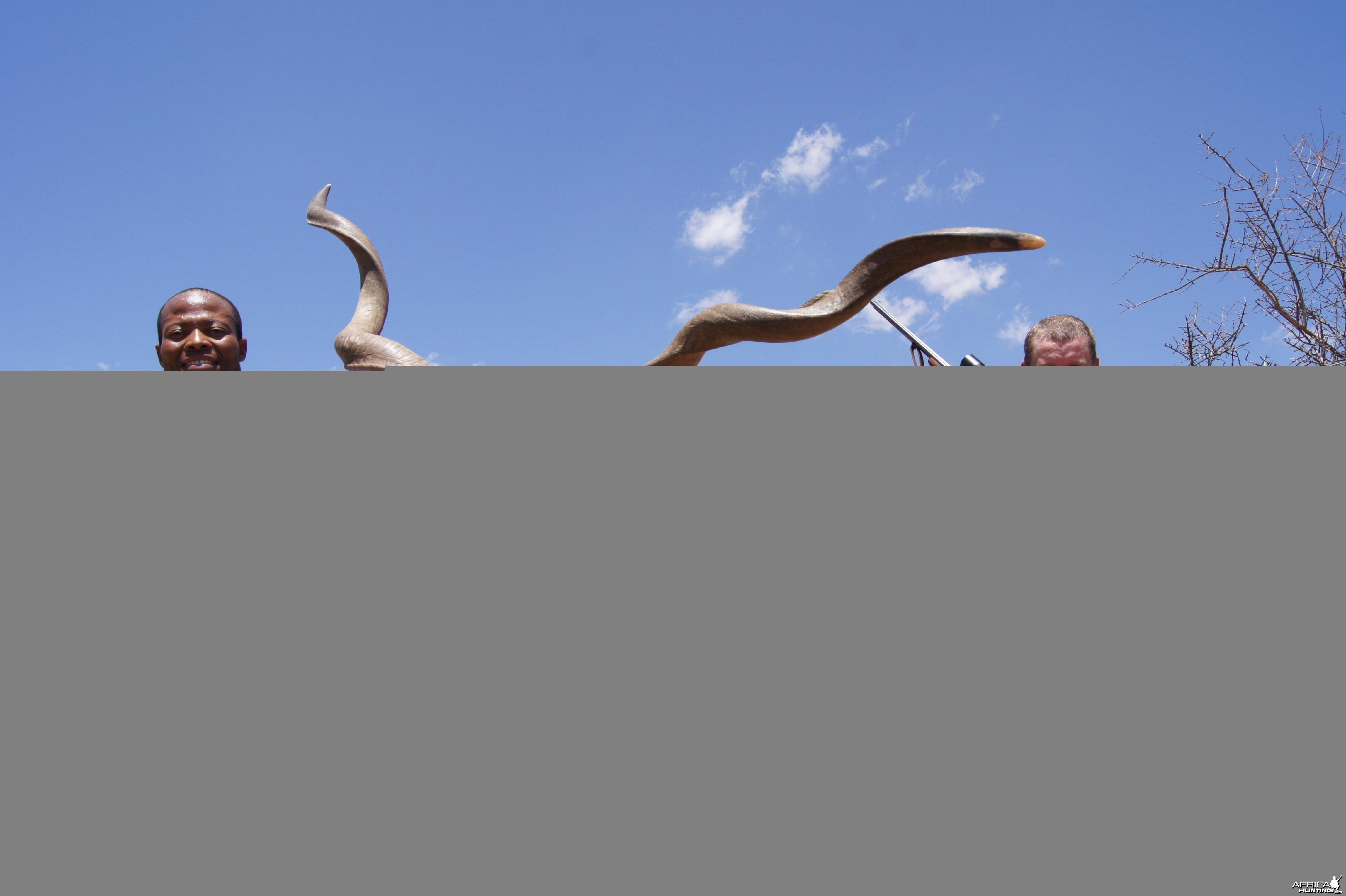 Unusual kudu hunted with Hartzview Hunting Safaris