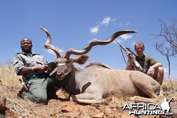 Unusual kudu hunted with Hartzview Hunting Safaris