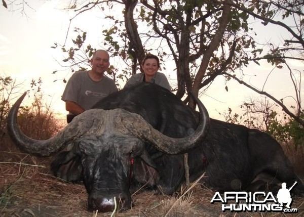 Nearly 49 inches Cape Buffalo hunted in Mozambique