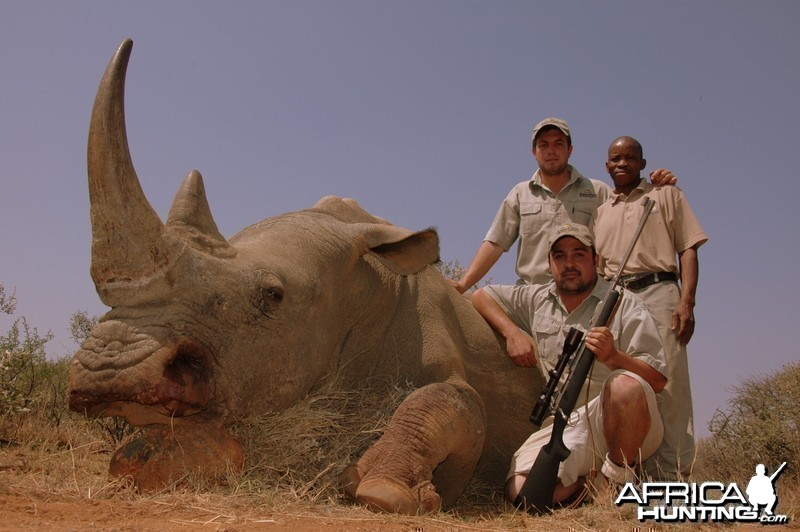 White Rhino hunted with Hartzview Hunting Safaris