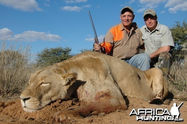 Lion Female hunted with Hartzview Hunting Safaris