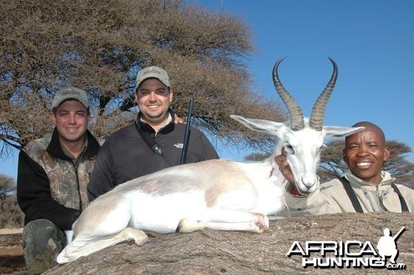 White Springbok hunted with Hartzview Hunting Safaris