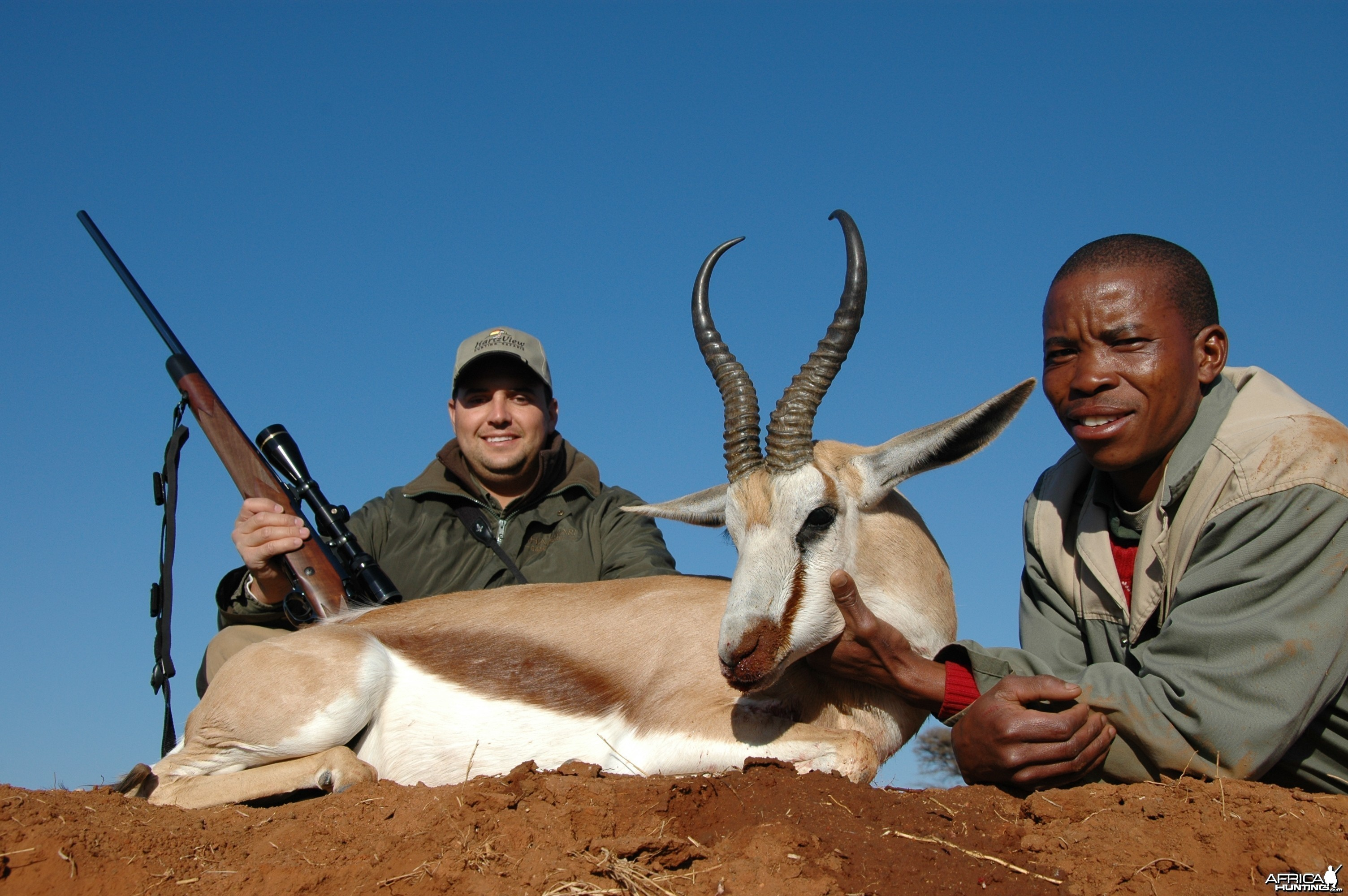 Common Springbuck hunted with Hartzview Hunting Safaris