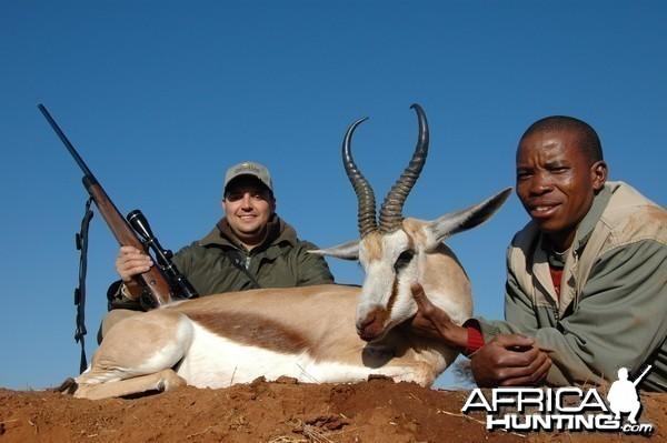 Common Springbuck hunted with Hartzview Hunting Safaris
