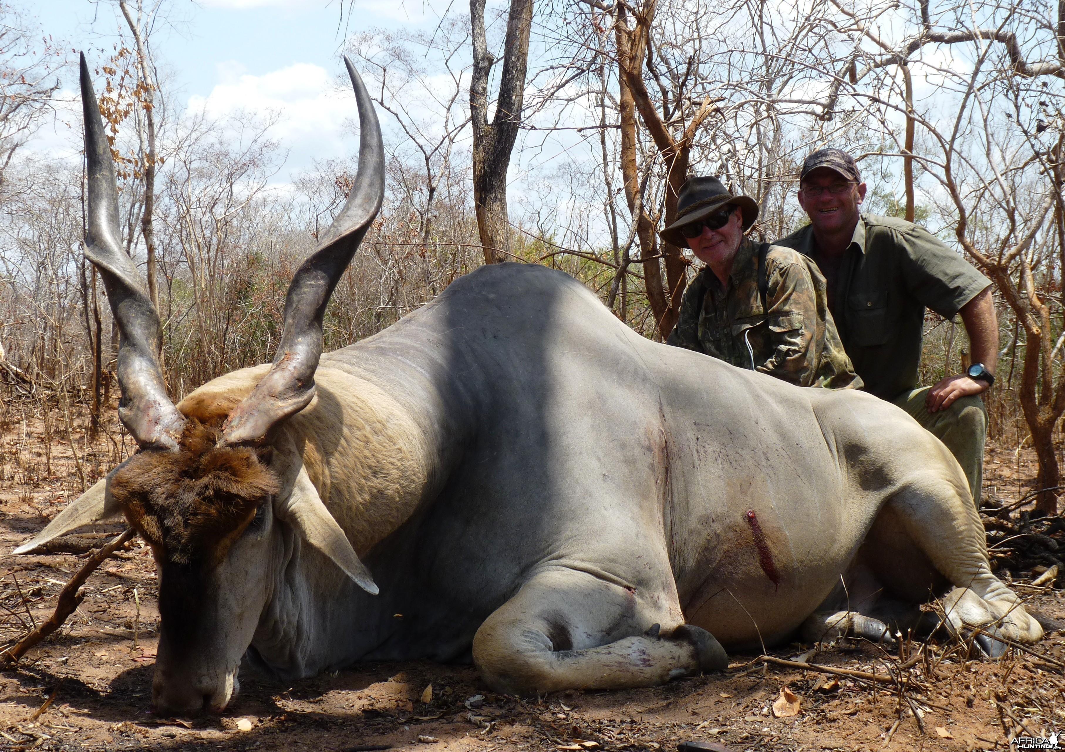 40 1/2'' east african Eland. Selous, Tanzania