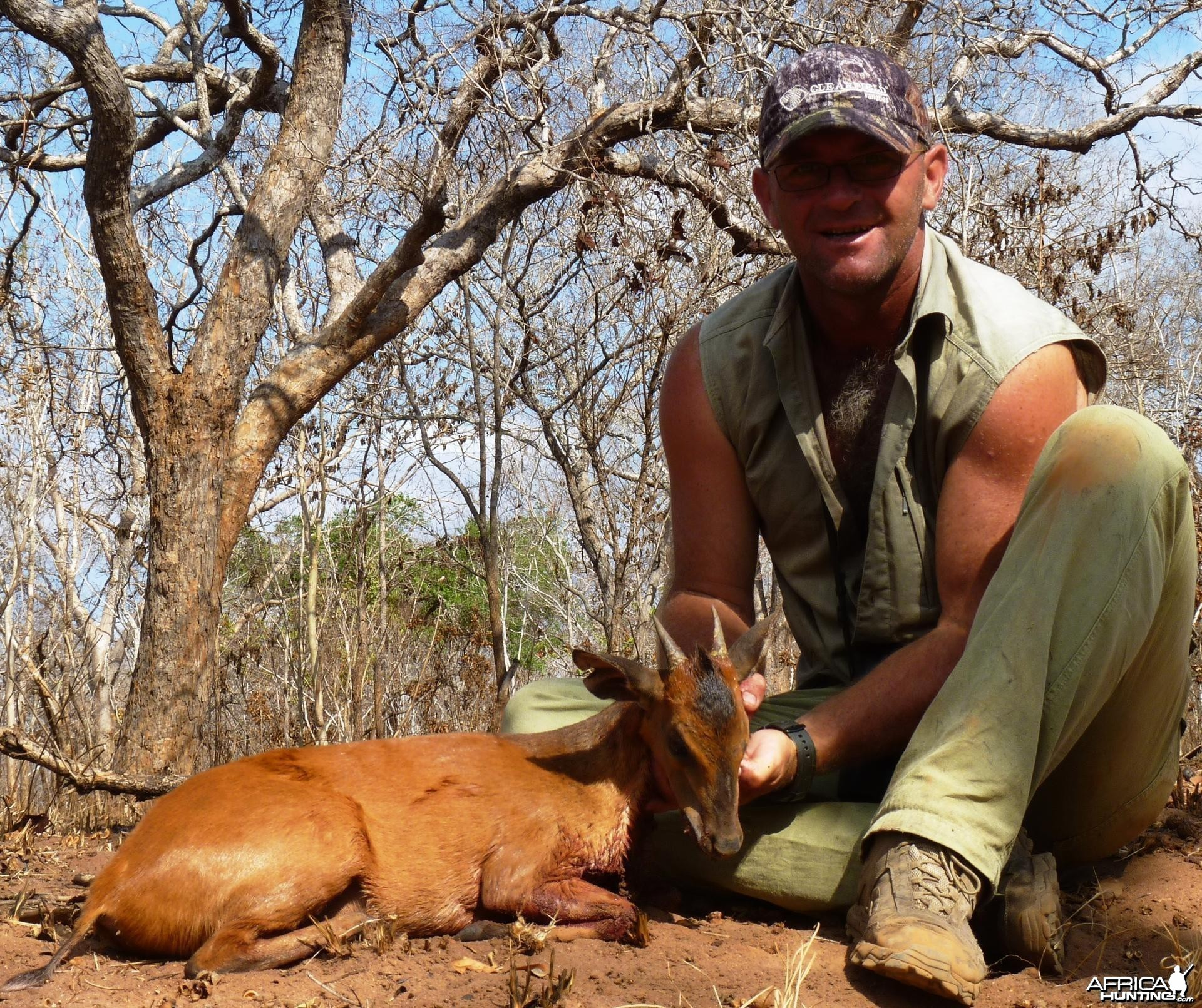 Harvey Duiker hunted in the Selous, Tanzania